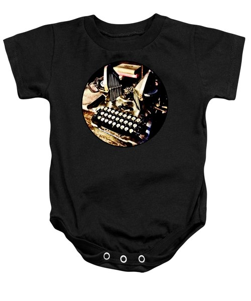 Antique Typewriter Oliver #9 Baby Onesie