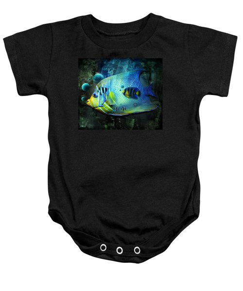 Aqua Fantasy Art World Baby Onesie