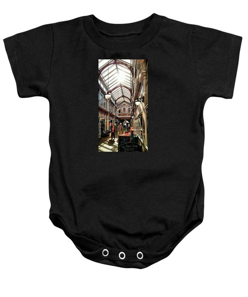 Baby Onesie featuring the photograph Arcade by Pedro Fernandez