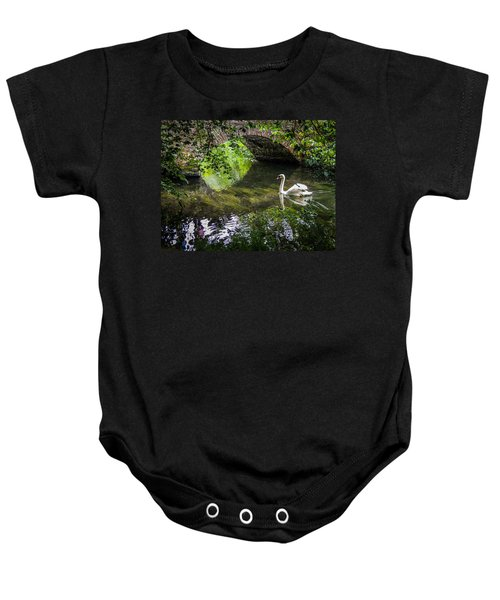 Arched Bridge And Swan At Doneraile Park Baby Onesie