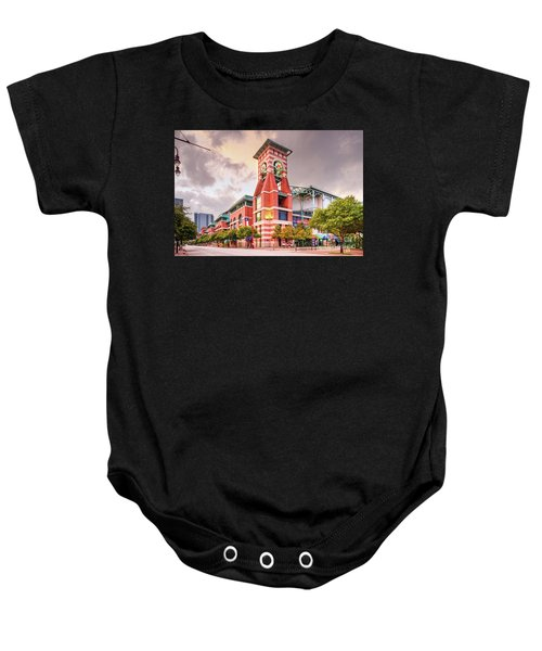 Architectural Photograph Of Minute Maid Park Home Of The Astros - Downtown Houston Texas Baby Onesie