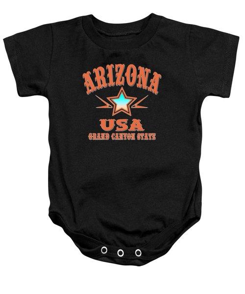 Arizona Grand Canyon State Design Baby Onesie