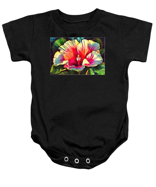 Art Floral Interior Design On Canvas Baby Onesie
