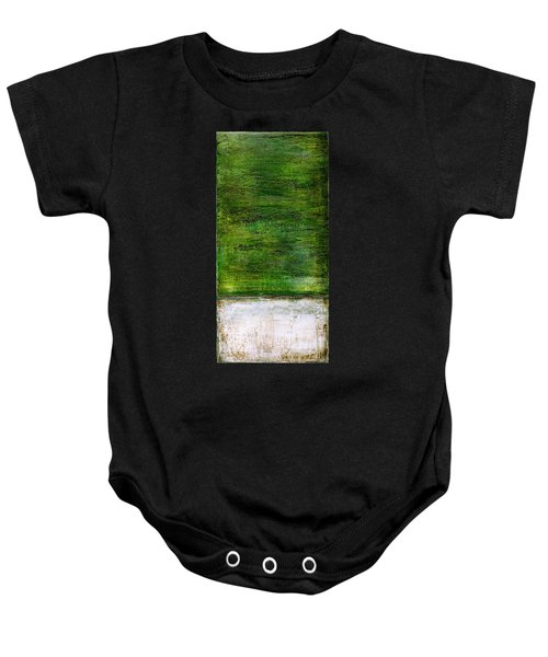 Art Print Green White Baby Onesie