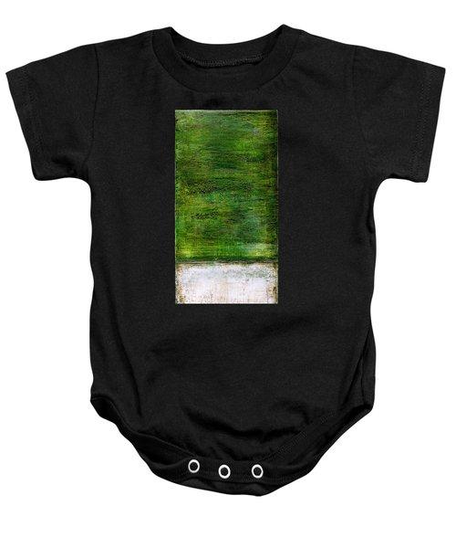 Art Print Green White Baby Onesie