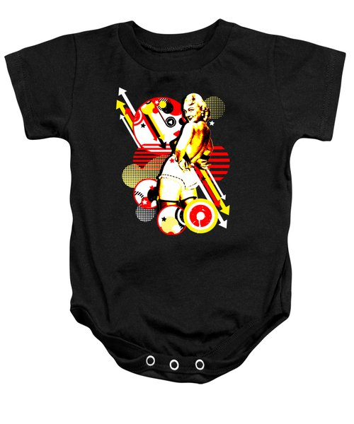 Striptease Baby Onesie by Chris Andruskiewicz