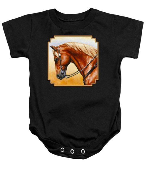 Precision - Horse Painting Baby Onesie