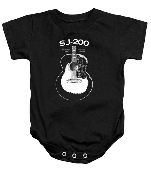 Gibson Sj-200 1948 Baby Onesie by Mark Rogan