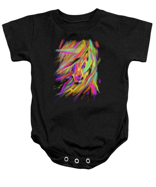 Horse Rainbow Hair Baby Onesie