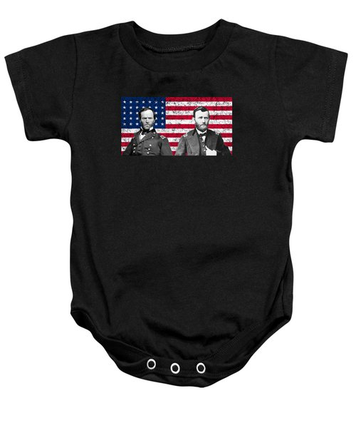 Generals Sherman And Grant  Baby Onesie