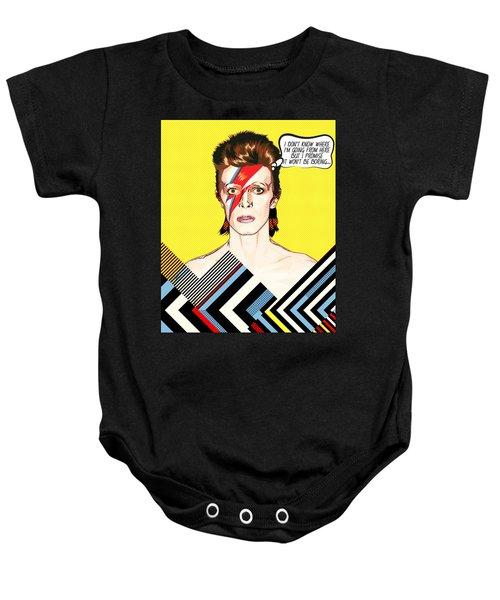 David Bowie Pop Art Baby Onesie