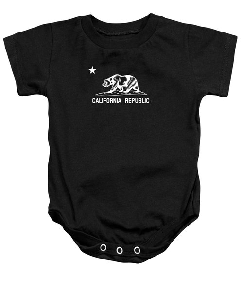 The Bear Flag - Black And White Baby Onesie