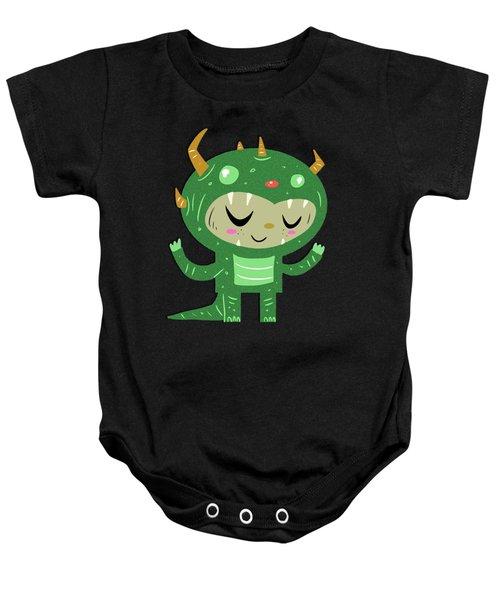 Green Monster Boy #1 Baby Onesie