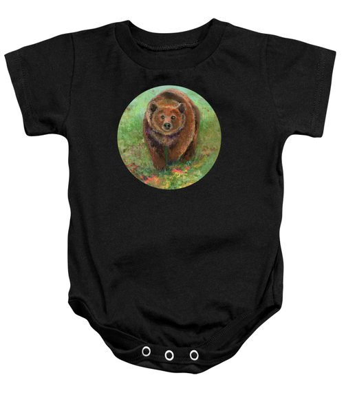 Grizzly In The Meadow Baby Onesie