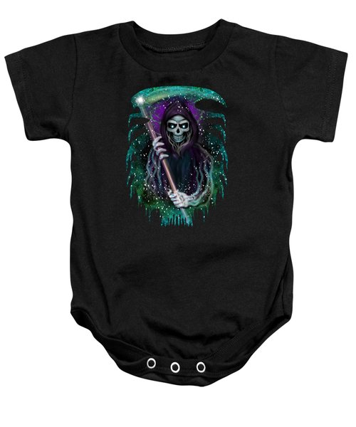 Galaxy Grim Reaper Fantasy Art Baby Onesie