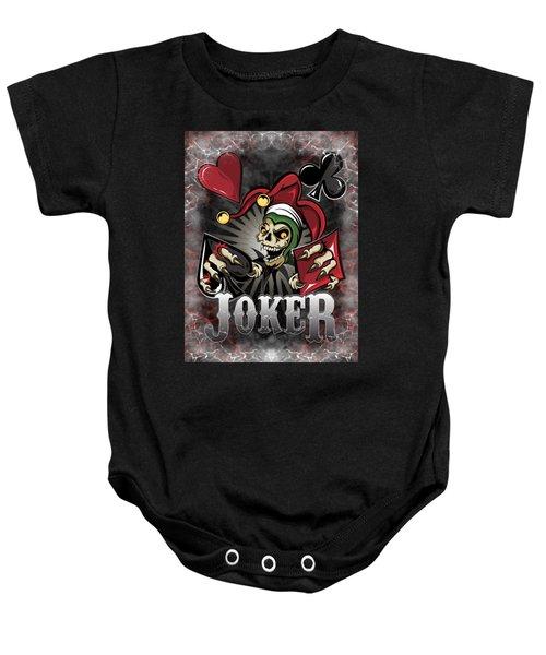 Joker Poker Skull Baby Onesie