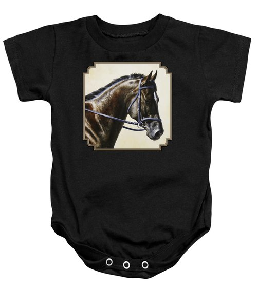 Dressage Horse - Concentration Baby Onesie