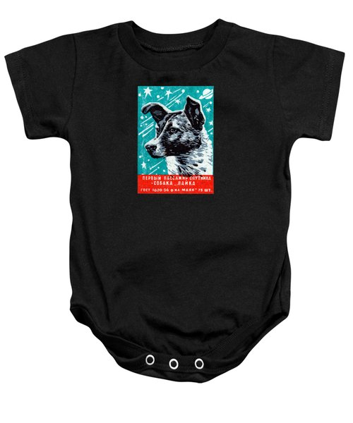 1957 Laika The Space Dog Baby Onesie