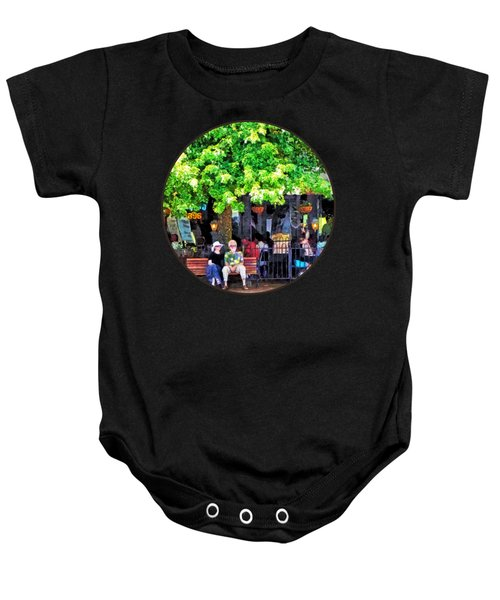 Asheville Nc Outdoor Cafe Baby Onesie