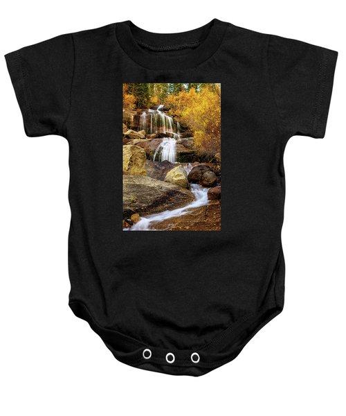Aspen-lined Waterfalls Baby Onesie