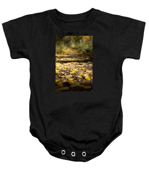 Aspen Leaves On Trail Baby Onesie