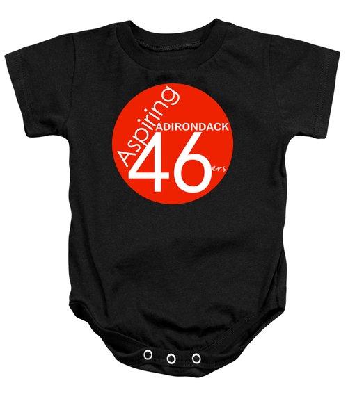 Aspiring Adirondack 46ers Trail Marker Baby Onesie by Michael French