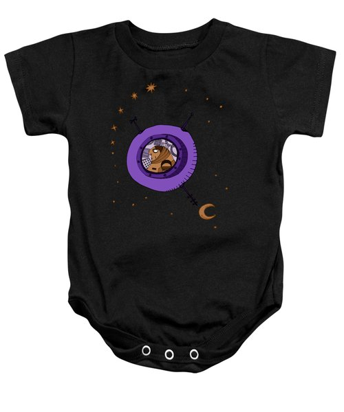 Astronaut In Deep Space Baby Onesie