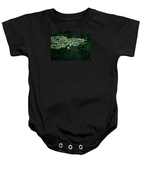 Baby Onesie featuring the photograph At Claude Monet's Water Garden 8 by Dubi Roman