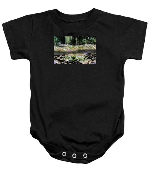 Baby Onesie featuring the photograph At Claude Monet's Water Garden 9 by Dubi Roman