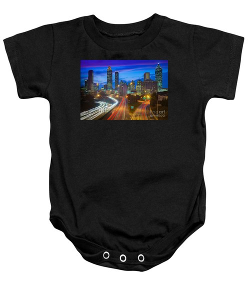 Atlanta Downtown By Night Baby Onesie