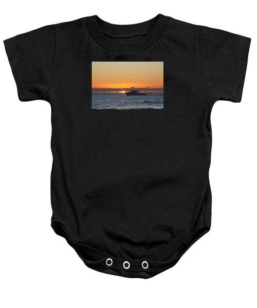 Atlantic Ocean Fishing At Sunrise Baby Onesie