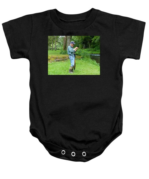 Attaching The Lure Baby Onesie