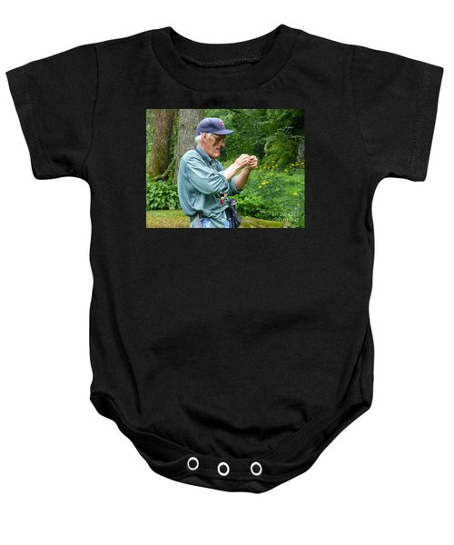 Attaching The Lure Up Close Baby Onesie