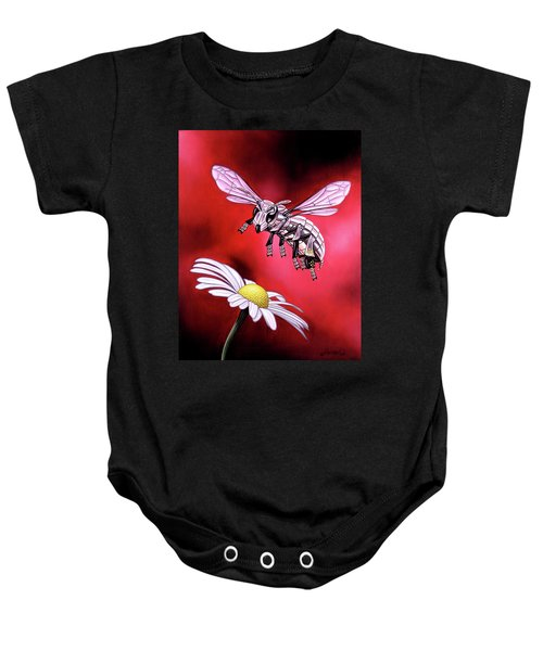 Attack Of The Silver Bee Baby Onesie