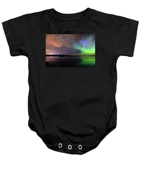 Aurora And Storm Clouds Baby Onesie