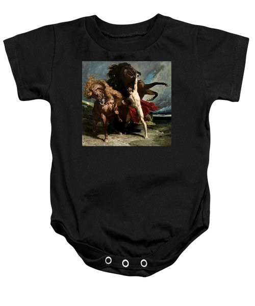 Automedon With The Horses Of Achilles Baby Onesie