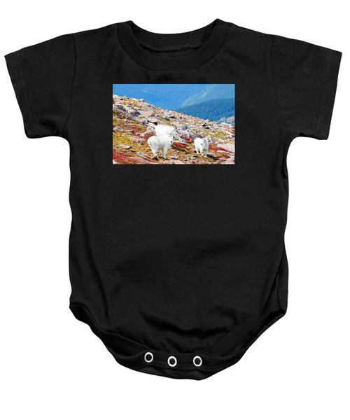 Autumn Goats On Mount Bierstadt Baby Onesie