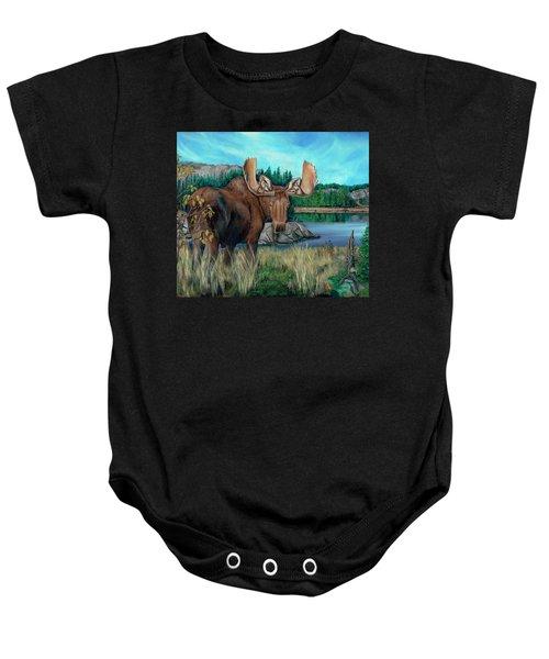 Autumn Moose Baby Onesie