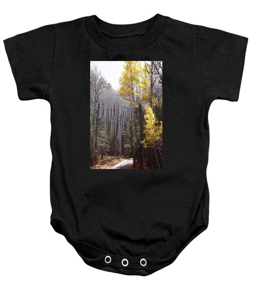 Autumn Road Baby Onesie