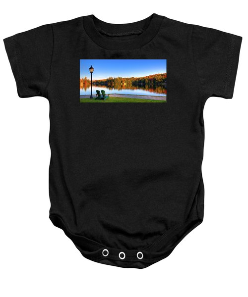Autumn View For Two Baby Onesie