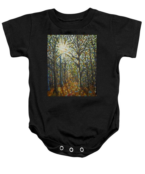 Autumn Wood Baby Onesie