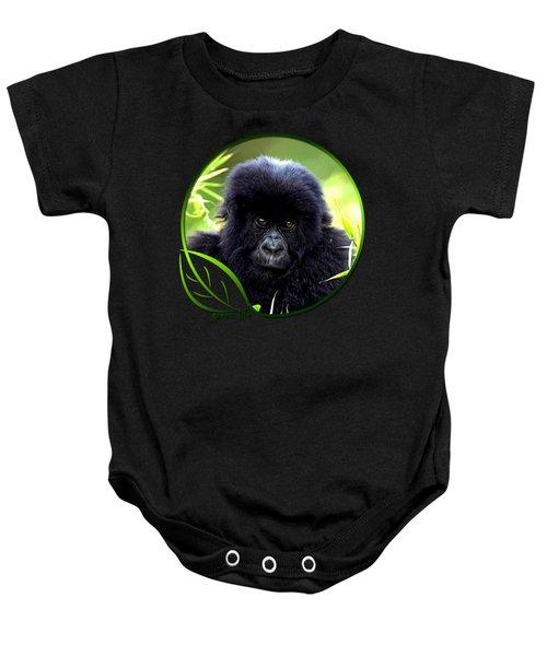 Baby Gorilla Baby Onesie by Dan Pagisun