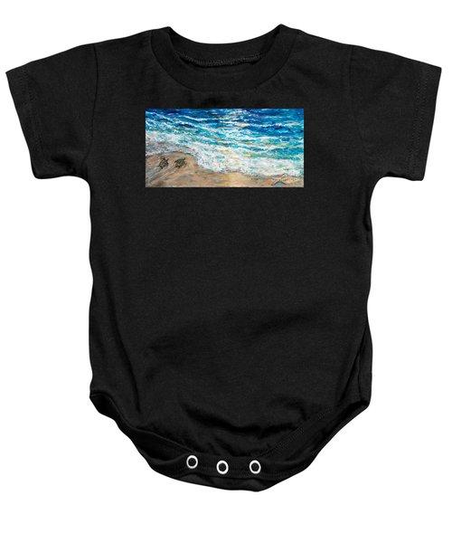Baby Sea Turtles Iv Baby Onesie