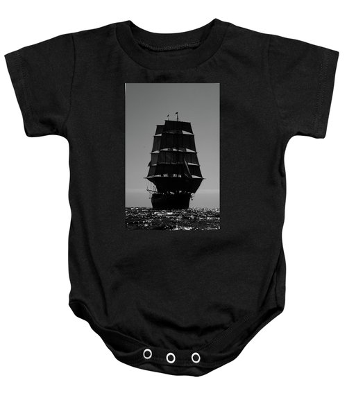 Back Lit Tall Ship Baby Onesie