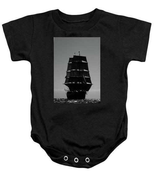 Back Lit Tall Ship Baby Onesie