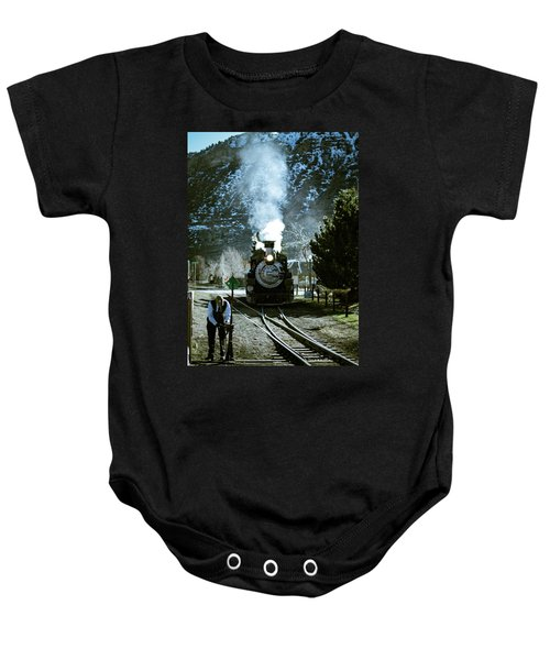 Backing Into The Station Baby Onesie