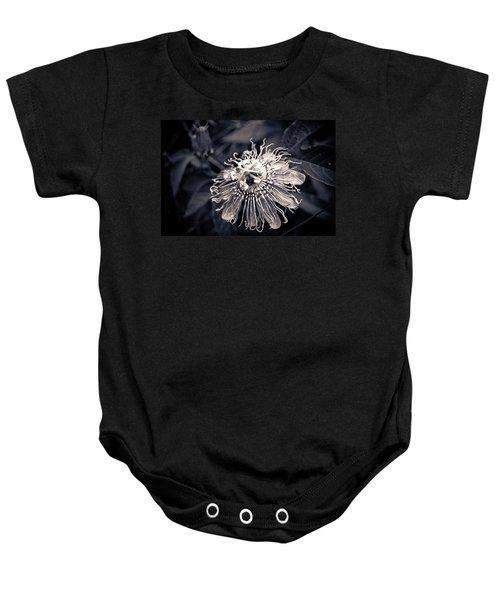 Clematis Flower Bloom Baby Onesie