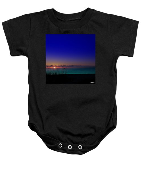 Badblue Sunrise  Baby Onesie
