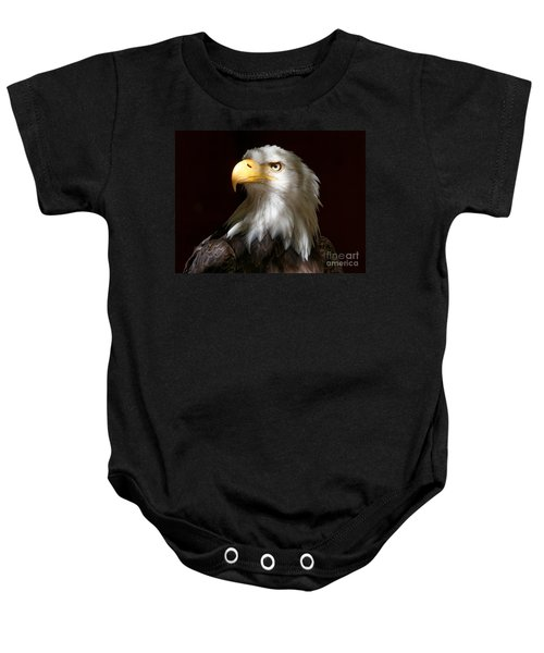 Bald Eagle Closeup Portrait Baby Onesie