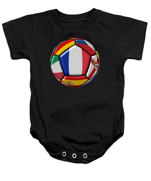 Ball With Flag Of France In The Center Baby Onesie